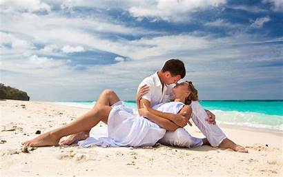 Beach Romantic Romance Couple Kiss Phones Tablet