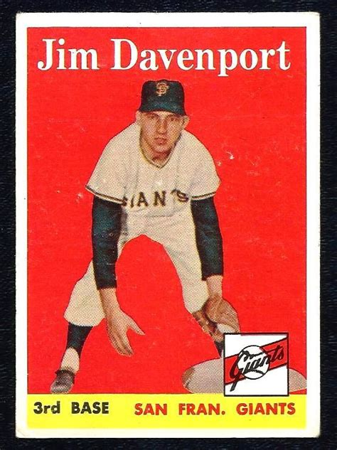 With this option, you're putting your cards into the hands of what should be a knowledgeable. 1958 Topps Baseball JIM DAVENPORT Giants # 413 Near Mint # ...