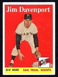 1958 Topps Baseball Jim Davenport Giants   413 Near Mint  Sfgiants  Sanfranciscogiants