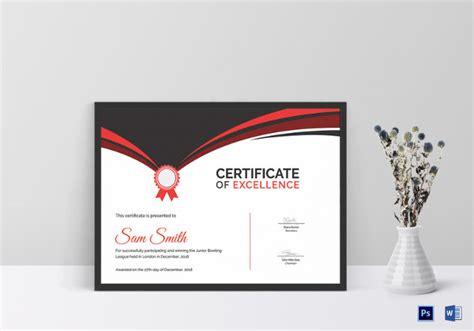 award certificate examples word psd ai eps examples