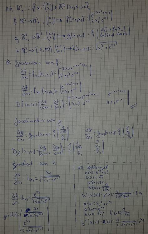 jaccobimatrixen und gradienten berechnen mathelounge