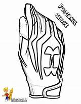 Football Glove Coloring Player Outs Yescoloring Quarterback Boys Blooded sketch template