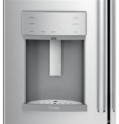 ge profile series pfd  cu ft french door refrigerator  door  door  hands