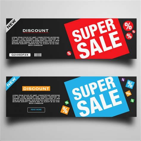 super discount banners vector free download