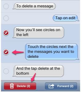 how to delete a message on iphone how to delete a text message from your iphone sharechair
