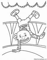 Clown Handstand Ausmalbilder Coloring Macht Zirkus Kostenlose Ausdrucken Ausmalbild Circus Gratis Bestcoloringpages Zum Gemerkt sketch template