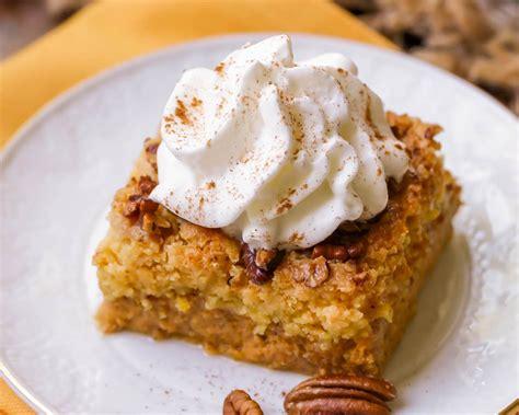 pumpkin dump cake recipe video lil luna