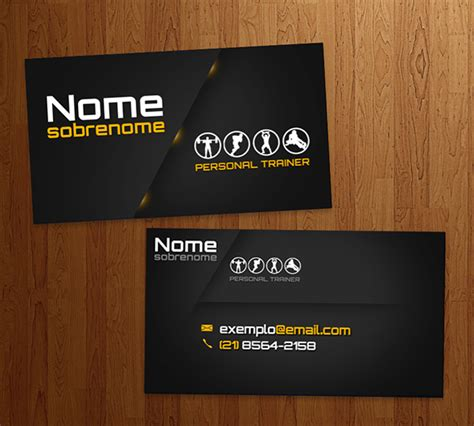 business card personal trainer  behance