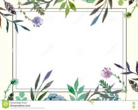 floral border wedding invitation card template stock