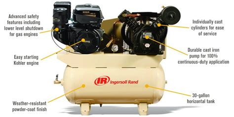 free shipping ingersoll rand air compressor 14 hp