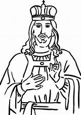 King Coloring Pages Christ Play Samuel Pdf sketch template