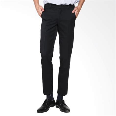 jual cardinal formal slim fit celana panjang hitam