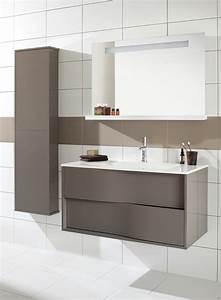 Mur Blanc Et Gris : salle de bain sol gris mur blanc maison design ~ Preciouscoupons.com Idées de Décoration