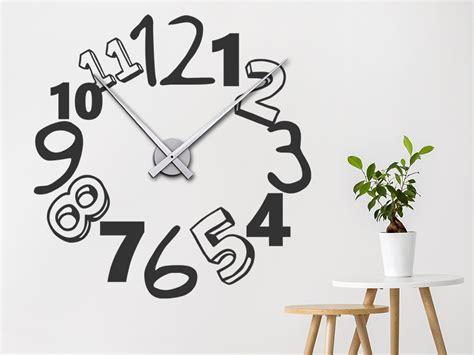 Uhr Mit Zahlen by Wandtattoo Uhr Kreative Zahlen Wanduhr Wandtattoo De