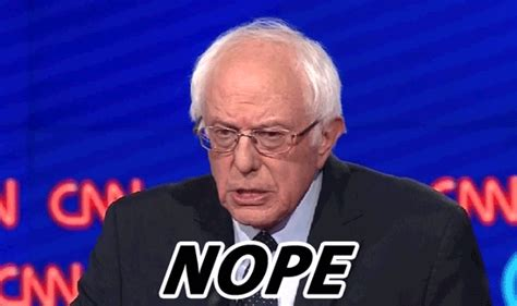 Nope Meme Gif - hillary clinton bernie sanders democratic debate gifs find share on giphy