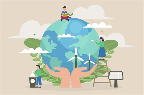 Free Vector Save the planet concept