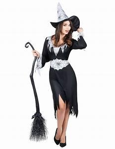Kürbis Schwarz Weiß : hexen verkleidung in schwarz wei f r damen bei vegaoo ~ Orissabook.com Haus und Dekorationen