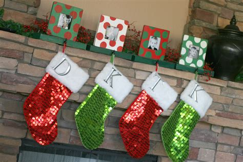 photo frame stocking holders christmas ideas the tomkat studio blog