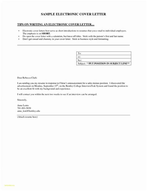 How To Email Cover Letter And Resume Attachments by Sle Cover Letter Email With Attached Resume Resume