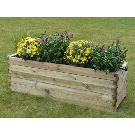 bac 224 fleurs en bois robust rectangulaire 150 achat