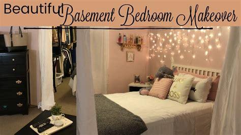 Basement Bedroom Makeover //