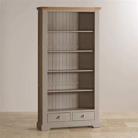 Painted Bookcases Uk by Oak And Light Grey Painted Bookcase