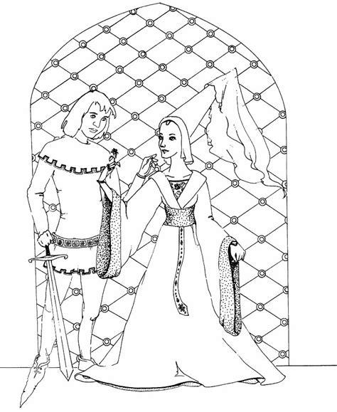 Jonkvrouw Kleurplaat kleurplaten en zo 187 kleurplaat ridder en jonkvrouw