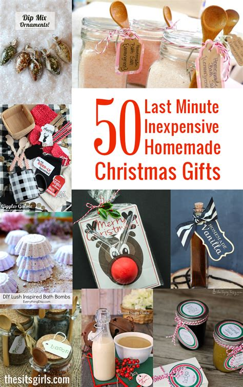 minute inexpensive homemade christmas gifts