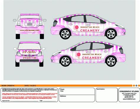 vehicle wrap design  icongraphy long beach orange
