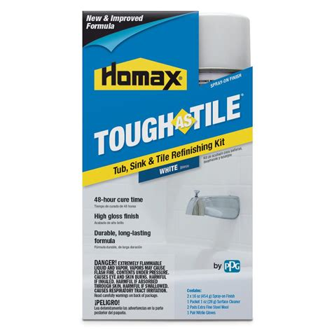 homax tough tile paint homax 32 oz white tough as tile one part aerosol kit 3153