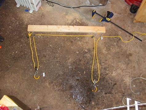 make my own kayak ceiling hoist garage diy garage storage hoist diy garage hanging storage