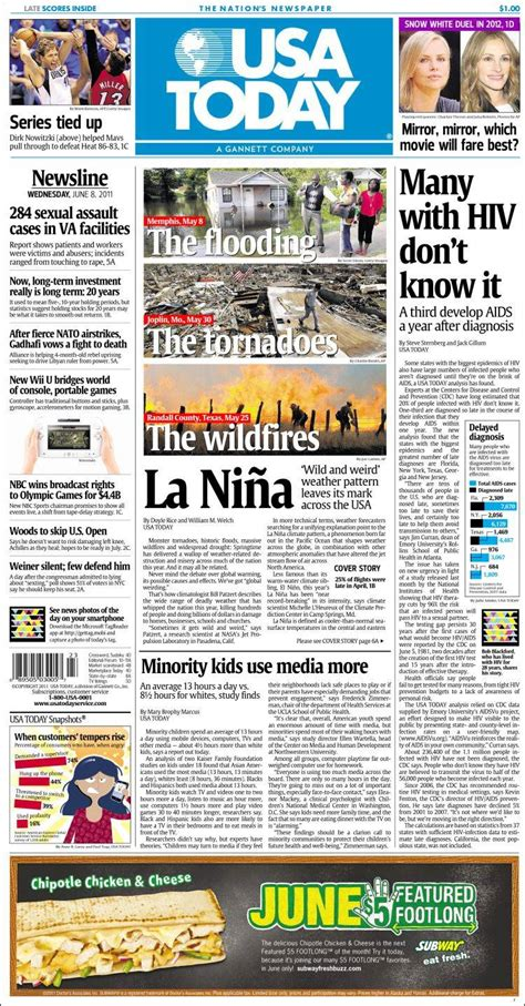 Newspaper Usa Newspaper Usa Today Usa Newspapers In Usa Wednesday S