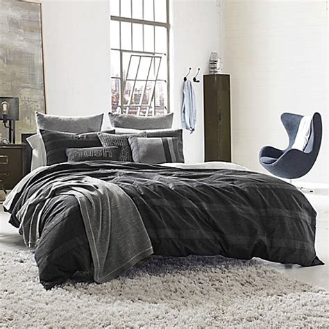 kenneth cole duvet cover kenneth cole reaction home obsidian reversible duvet cover