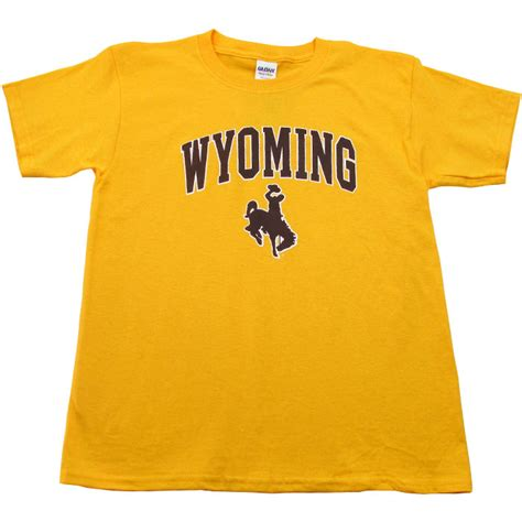 youth traditional wyoming cowboys tee gold brown  gold outlet