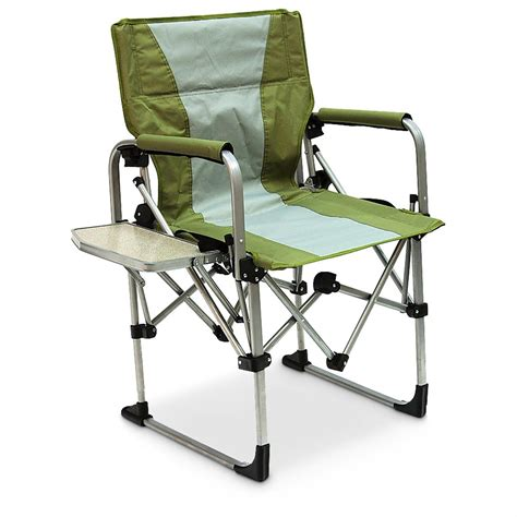 folding directors chair with side table canada mac sports 174 portable director s chair green 234570