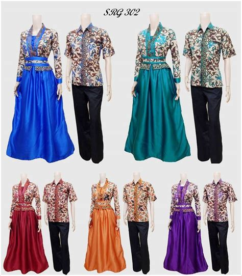 baju gamis batik couple  model baju terbaru