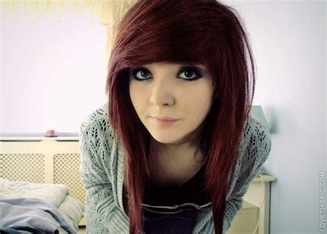 cute emo girl with long emo hairstyles styles weekly