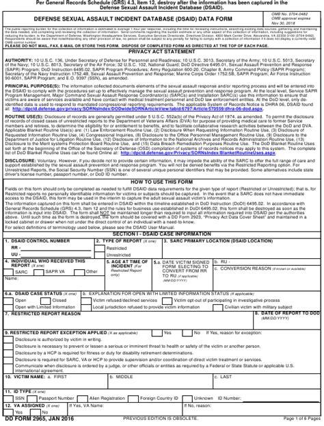 dd form 2965 download fillable pdf defense sexual assault