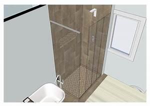 0109 amenagement salle de bains style contemporain With amenagement de salle de bain avec douche