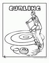 Curling Coloring Pages Olympic Winter Jr Classroomjr Classroom Preschool Sports Ice Cartoons Sheets Club Olympics Source sketch template
