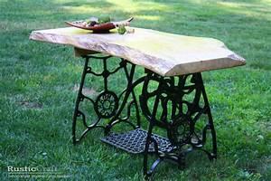Nähmaschinengestell Als Tisch : alte n hmaschinengestelle dekorativ verwendet blog an na haus und gartenblog ~ Buech-reservation.com Haus und Dekorationen