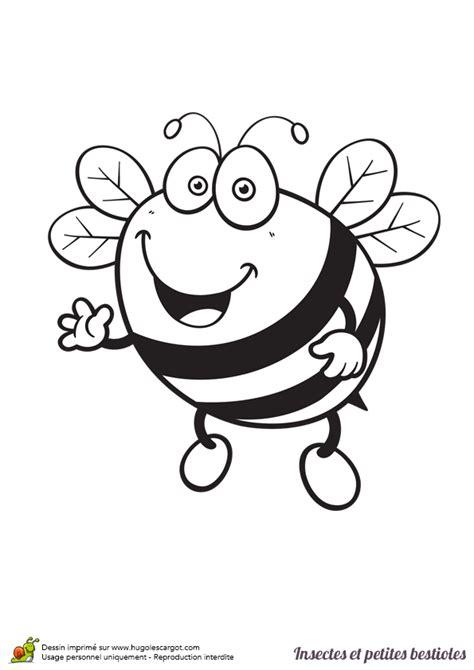 coloriage insecte  petite bestiole une abeille en ligne