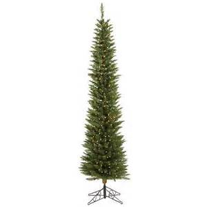 Pencil Christmas Tree Pre Lit Led by 7 5 Ft Ultra Slim Pencil Christmas Tree Led Multi Color