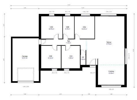 chambre maison plan maison 1 chambre maison ossature bois plan natiming