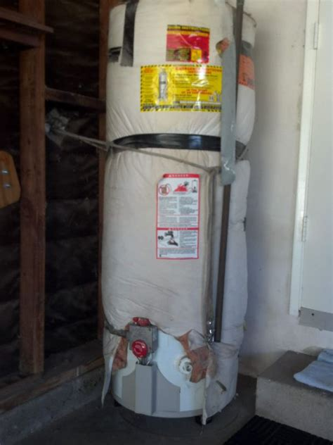 proper water heater strapping  ca