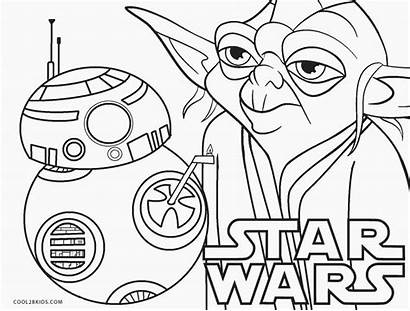 Wars Coloring Star Printable Pages Cool2bkids