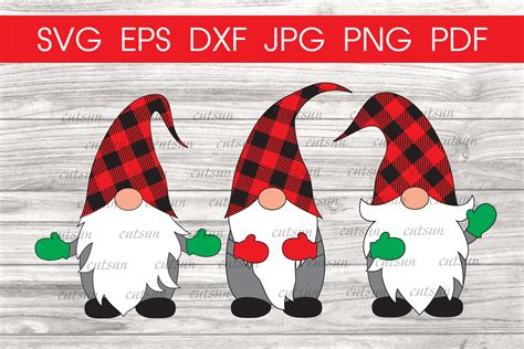 Dowloaded files do not include watermarks. Christmas Gnomes Plaid hats svg | Gnome svg | Christmas svg