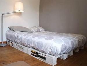 Cadre Lit 180x200 : un cadre de lit base de palettes mademoiselle je sais tout ~ Teatrodelosmanantiales.com Idées de Décoration