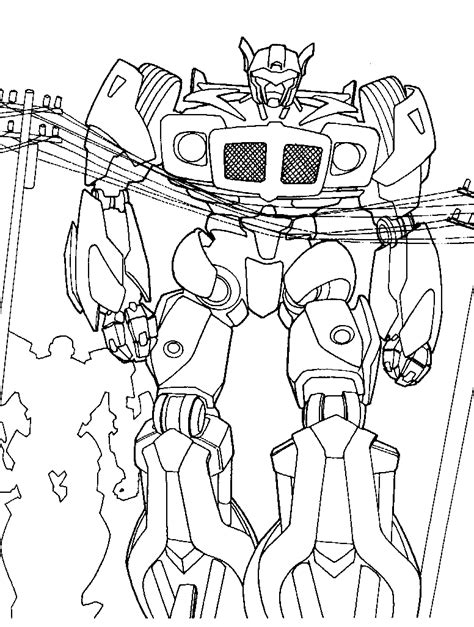 Coloring Transformer by Transformers Coloring Pages Coloringpages1001