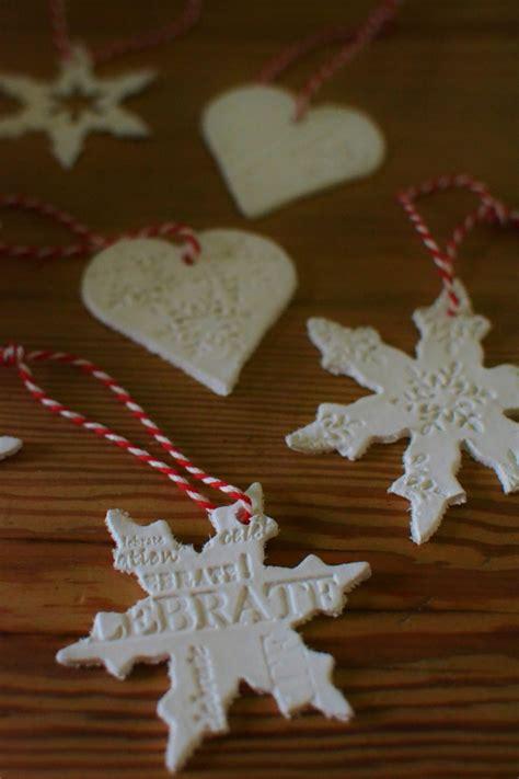 diy air drying clay christmas tree decorations